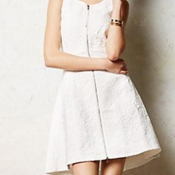 Anthropologie Dresses White Leifsdottir High Tea Dress Poshmark